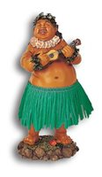 KC Hawaii Local Boy w/ Ukulele Green Skirt Leilani Dashboard Doll
