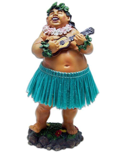 Hula Boy w// Ukulele Mini Dashboard Doll