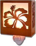 Hibiscus Tropical Wood Night Light