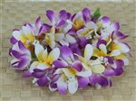Purple & White Plumeria Headband (Haku Lei)