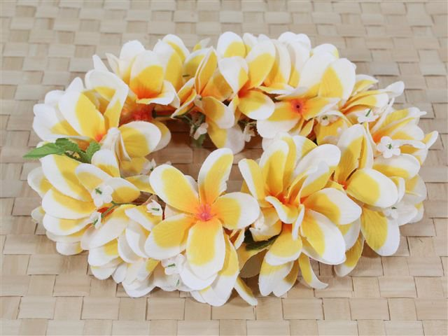 Yellow Plumeria Headband (Haku Lei)