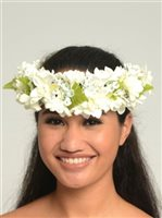 White Tuberose Queen Headband (Haku Lei)
