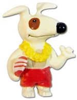 Kekoa Surfer Dog Island Frenz Magnet