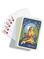 Island Heritage Ukulele Girl  Playing Cards