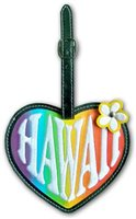 Heart Hawaii Hawaiian Vinyl Luggage Tag