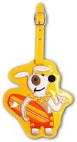 Surfer Dog Hawaiian Vinyl Luggage Tag