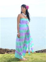 TD-802-L Wailea Dress [Rainbow/Green/Long]