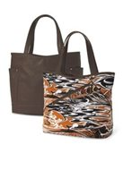 Island Heritage Hypnotik Waves  Terra Cotta Brown Marmara Reversible Bag