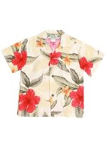 Two Palms Leilani Cream Rayon Boys Hawaiian Shirt