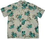 Paradise Found Sakura Cream Rayon Men's Hawaiian Shirt