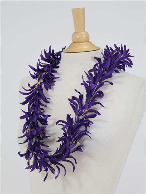 Dark Purple Spider Lily Lei Alohaoutlet