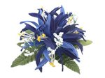 "Navy Blue Spider Lily Hair Clip 4""x 4.5"""