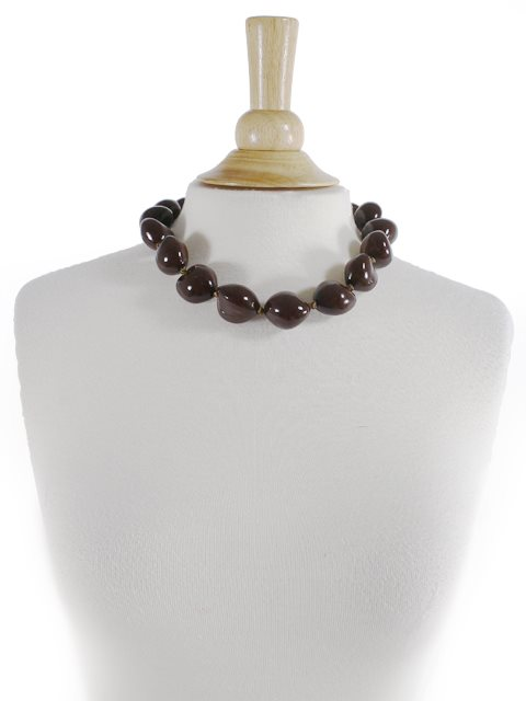 Brown Kukui Choker