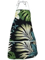 Pacific Legend Black Hawaiian Apron