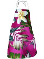 Pacific Legend Pink Hawaiian Apron