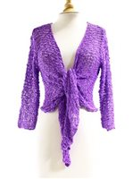 Lani Lau  Purple Acrylic Popcorn Sweater