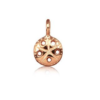 Sterling Silver with Rose Gold Sand Dollar Mini Charm