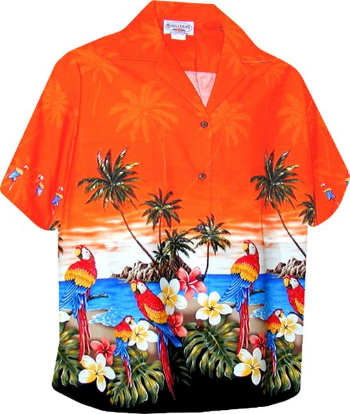 Couple Matching Hawaiian Shirts for Party and Luau