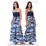 Kai Clothing Hypnotik Waves II Stormy Seas Rayon Convertible Halter Dress