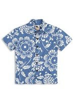 Kahala Duke's Pareo Wave Cotton Boys Hawaiian Shirt