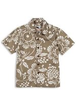 Kahala Duke's Pareo Bark Cotton Boys Hawaiian Shirt