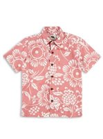 Kahala Duke's Pareo Guava Cotton Boys Hawaiian Shirt