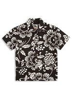 Kahala Duke's Pareo Black Cotton Boys Hawaiian Shirt