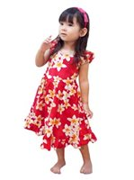Royal Hawaiian Creations Plumeria Pink Cotton Girls Hawaiian Sundress