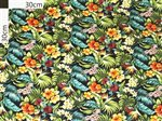 Tropical Flower Black Cotton LMH-09-646