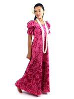 Gradation Medley Pink Poly Cotton Hawaiian Long Muumuu Dress