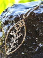 VP Coral Branch Necklace/Silver&K14 Gold Filled