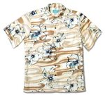 Kai Clothing Oceanic Floral Indigo Rayon Men's Hawaiian Shirt