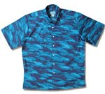 Kai Clothing School of Fish Blue Cotton Men's Hawaiian Shirt