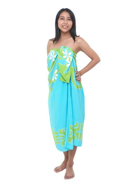 1f89a5e0264c5 Lauhala Trading Arabesque Turquoise & Green Hand Printed Pareo ...