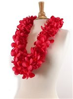 Carmine Red Plumeria Double Lei