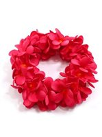 Carmine Red Plumeria Double Headband (Haku Lei)