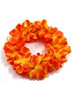 Golden Orange Plumeria Double Headband (Haku Lei)