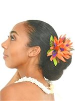 "Orange Bird of Paradise Hair Clip 5""x 5.5"""