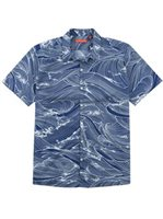 Tori Richard Ocean's 11 Midnight Cotton Spandex Men's Hawaiian Shirt