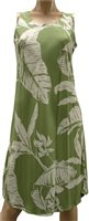 Paradise Found Paradise Banana Olive Rayon Hawaiian A-Line Tank Short Dress