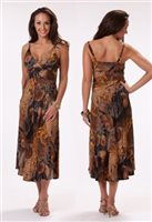 Kai Clothing Surplice Dress [Nautilus / Brown]