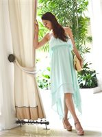 Angels by the Sea Aqua Ruffle Tail Cut Dress