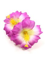 "Purple Deluxe Hibiscus Hair Clip 5"" [60% OFF]"