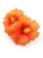 Orange Deluxe Hibiscus Hair Clip 5""