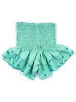 Lani Lau Teal Cutwork Shorts