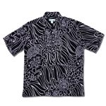 Kai Clothing Coral Reef Black Rayon Men's Hawaiian Shirt