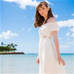 Angels by the Sea White Belt Sleeve Dress