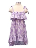 Angels by the Sea Sunflower/Purple Girls Tail Cut Dress K-1-141[60% OFF]