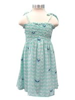 Angels by the Sea Angel's Wing Aqua Girls Summer Dress