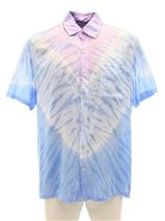 Angels by the Sea Tie Dye Purple Rayon Men's Hawaiian Shirt